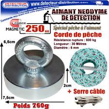 PROMO !!! AIMANT Néodyme DMD PRO 250 kg + Corde de pêche