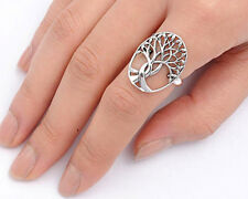 USA Seller Tree of Life & Leaf Ring Sterling Silver 925 Best Deal Jewelry Size 8