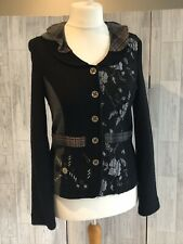 Lisa Campione New York Black & Grey Jacket, Checked Collar & Pockets Uk10 NWOT