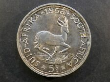 More details for south africa. 5 shillings (crown), 1953.