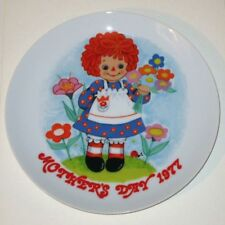 "Vintage Raggedy Ann ""Mother's Day 1977"" Schmid Porcelain Collector's Plate!"