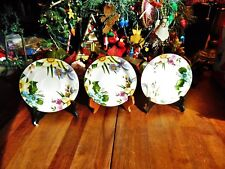 """3 New Other(old stock) Emeiald Saucers 6""""R Porcelain"""