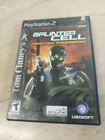Tom Clancy's Splinter Cell Pandora Tomorrow PlayStation 2 PS2