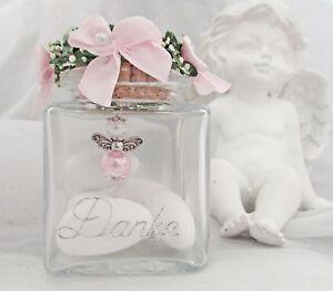 1 Glas Hochzeitsmandeln + Schutzengel im Glas Rosa Hochzeit,Danke,Gastgeschenk,