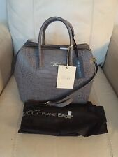 IACUCCI Made In Italy Croco Gray Leather Satchel Shoulder Bag Crossbody NWT