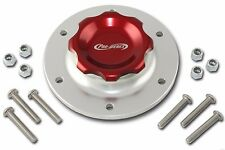 Pro-werks Easy Turn 2-3/4 in. Red Fill Cap w/Aluminum 6 Hole Fuel Cell Bung