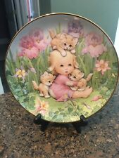 The Danbury Mint Collectors Ceramic Plate Kitten Companions 'Blessed Are Ye'
