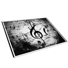 Black White Music Notes Glass Chopping Board Kitchen Worktop Saver Protector