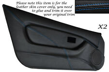 BLUE STITCH 2X FULL DOOR CARD TRIM LEATHER SKIN COVERS FITS MG MGF MK1 95-99