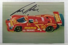 PHOTO cm10x15 SIGNED by Frank Jelinski JOEST-MOMO PORSCHE 962 #30 DAYTONA 1992