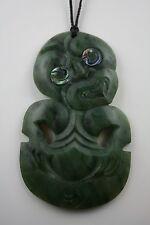 Großes Maori Jade Carving aus Neuseeland    Hei Tiki