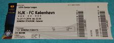 Ticket for collectors EL HJK Helsinki FC Copenhagen 2014 Finland Denmark