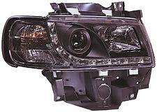 VW Transporter T4 90-03 LWB Black DRL Devil Angel Eyes Front Headlights Lights