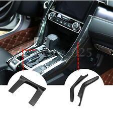 3x Carbon Fiber Generic Gear Box Panel Cover Trim For Honda Civic 10th Gen 16-17