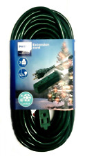 Philips 50' 3-Outlet Grounded Extension Cord Outdoor Green NEW