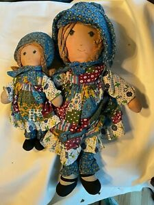 "Vintage The Original Holly Hobbie Doll (15"") with Holly Hobbie Doll (9"")"