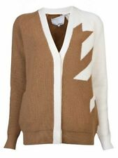 3.1 Phillip Lim Fading Houndstooth Merino Wool Cardigan Sweater M