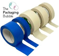 More details for professional masking tape roll 50m 50/25/38mm painting automotive auto car blue