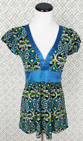Womens Hot Tempered Short Sleeve Groovy Top Blouse Dress Shirt Size S Small