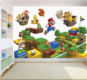 Super Mario Brothers Friend Wall Mural Photo Wallpaper Bedroom kids Nursery