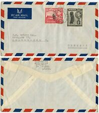 MALTA to DENMARK CIVIL MAIL THROUGH MILITARY FPO 570 AIRMAIL 1s 2d FRANKING 1947