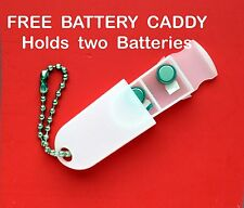 60 PowerOne Hearing Aid Batteries Size P10 Fresh Expires 2019 FREE Battery Caddy
