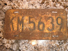 1957 INDIANA LICENSE PLATE KM 5639