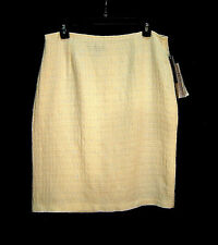 WOW~WINTER OFF-WHITE SHIMMER TEXTURED TWEED PENCIL STRAIGHT SKIRT DRESS~12~L~NEW