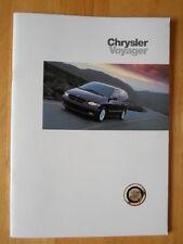 CHRYSLER Voyager & Grand Voyager 1997 UK Mkt prestige sales brochure