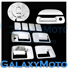 99-07 Ford Super Duty Chrome 4 Door Handle w/o PSG Keyhole+Tailgate+Gas Cover