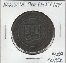 LAM(X) Norwich Two Penny Piece - 40 MM Copper