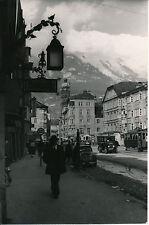 INNSBRUCK c. 1938 - Rue Tramway Montagne Autriche  - Div 9005