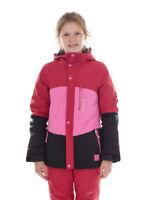 O'Neill Giacca da sci snowboard corallo rosso cappuccio colore TICKET LOGO