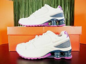 Nike Shox Enigma 9000 White Purple Womens Running Shoes BQ9001 009 Size 5.5-8