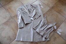 NWT GILAR Embroidered Silk  3 Pc Set Grown Evening Suit Skirt & Cami  & Jacket 6