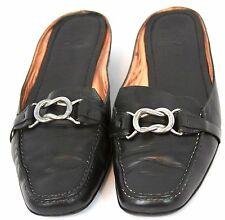 Cole Haan Nike Air Leather Flats Slip-Ons Black Buckle Casual 6.5 Medium