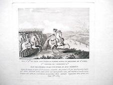 Rare gravure de Nicolas Ransonnette - 1784 - Cavalerie