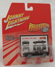 Johnny Lightning Muscle Cars 1969 Pontiac GTO Judge Black Uniroyal Tires