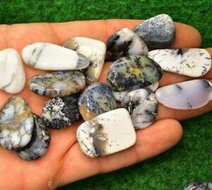 Mystic Merlinite Opal Dendrite Agate Crystal Mineral 3-4cm Small Palm Stone UK✔