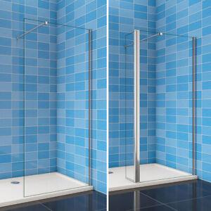 8mm NANO Walk In Shower Enclosure Glass Screen & Optional Flipper Panel