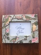 New No Box Papel Giftware Picture Photo Frame Birds Spring Handpainted 3.5� X 5