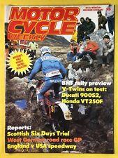 Motocicleta Semanal - 14th MAYO 1983 - DUCATI 900s2 - WEST Alemán CARRERA