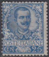 Italy Regno - 1901 Floreale - Sassone n.73 cv 600$ MH*  defect