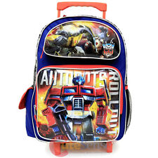 "Transformers Robots in Disguise 16"" School Roller Backpack Large Rolling Bag"