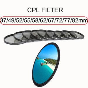 Camera Lens Filter CPL Polarizing For Canon Nikon Sony