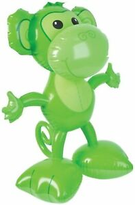 """24"""" Green Open Arms Big Footed Monkey Inflatable - Inflate Toy Party Decoration"""