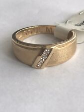 925  Mens Gold Plated Cz Mate Ring New Size S