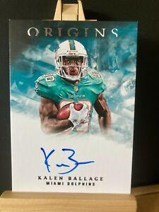 KALEN BALLAGE NFL 2018 PANINI ORIGINS ROOKIE SIGNATURES (DOLPHINS,STEELERS,JETS)