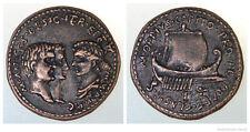 Roman Æ Tressis of Mark Antony, Caivs Octavianvs + Octavia
