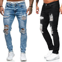 Jeans Hose Pants Herrenjeans Destroyed Zerissen Denim Slim Fit Used Herren